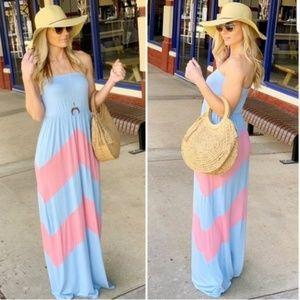 NEW Chevron Maxi Dress